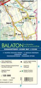 Balaton és környéke szabadidőtérkép