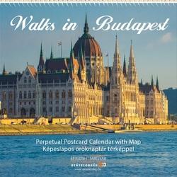 Walks in Budapest - képeslapos öröknaptár