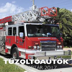 Tűzoltóautók falinaptár 2017