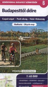 Budapesttől délre kerékpártérkép