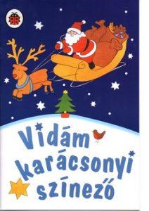 Vidám karácsonyi színező
