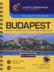 Budapest zsebatlasz 1:25 000 SC