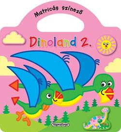 Dinoland - 2. Rózsaszín - Matricás színező