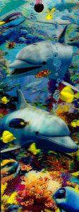 3D Könyvjelző - Delfinek halakkal