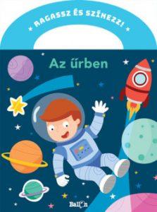 Az űrben - Ragassz és színezz!