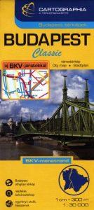 Budapest térkép SC (puha) BKV járatokkal 1:30 000
