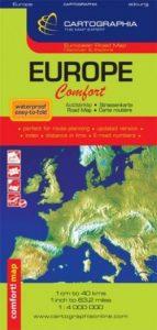 Európa Comfort térkép 1:4 000 000