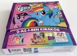 My Little Pony - Foglalkoztatókönyv és 2-az-1-ben kirakós - 36 darabos kirakós színezővel a hátoldalán