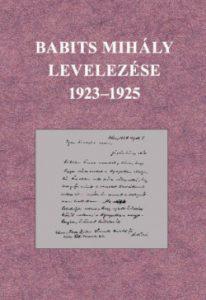 Babits Mihály levelezése 1923-1925