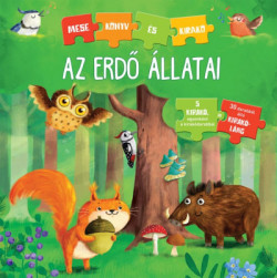 Az erdő állatai - Mese könyv és kirakó