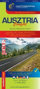 Ausztria Comfort térkép 1:575 000 - Laminált